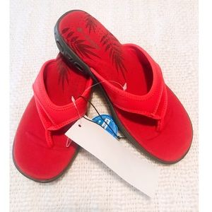 COLUMBIA ANTIMICROBIAL Red Tropical Sandals